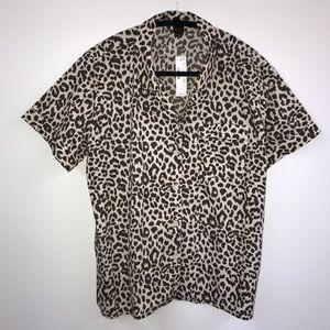 *NEW* J Crew Leopard Pajama Top